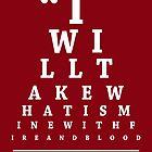 Game of Thrones, Eye Chart by Alex Boatman