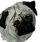 Pug Dog Fine Art Contemporary Acrylic Painting by JamesPeart