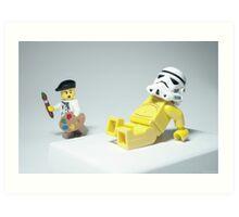 Lego Modern Art Art Print