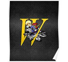 Quatre Raberba Winner and Gundam Sandrock - Chibilette Poster