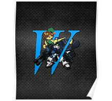 Trowa Barton and Gundam Heavyarms - Chibilette Poster
