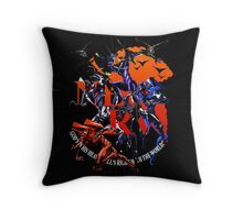 Evangelion - Mecha United Throw Pillow