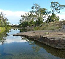 Medway Creek ,Bogantungan ,Queensland.  by Virginia  McGowan