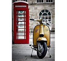 Yellow Lambretta GP Photographic Print