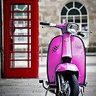 Italian Pink Lambretta GP Scooter by AJ Airey