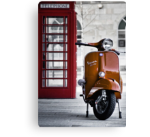 Italian Orange Vespa Rally 200 Scooter Canvas Print