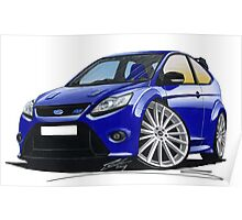 Ford Focus RS (Mk2) Blue Poster