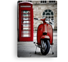 Italian Red Lambretta GP Scooter Canvas Print