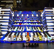 Piano Man - Customs House - Sydney Vivid Festival - Australia by Bryan Freeman