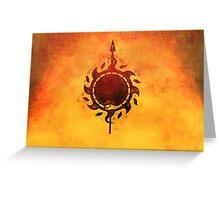 Sun and viper Greeting Card