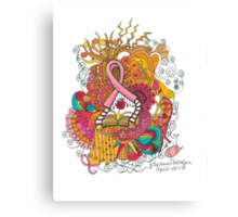 Pink Ribbon Canvas Print