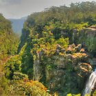 Carrington Falls pano .. 3 vertical photo stitch by Michael Matthews