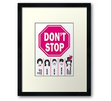 Don't Stop... (Pink Color) - Music Poster - Michael Jackson - Queen - Rihanna - Journey - Fleetwood Mac Framed Print