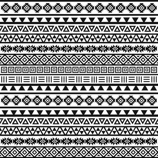 Black And White Aztec Patterns