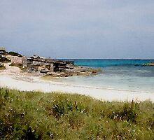 Playa de Illetas Watercolour by John Edwards