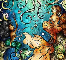 Under the Sea - Paige (Left Mermaid) by Mandie Manzano
