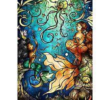 Under the Sea - Paige (Left Mermaid) Photographic Print