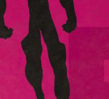 Element Lad - Superhero Minimalist Alphabet Print Art Sticker