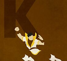 Karate Kid - Superhero Minimalist Alphabet by justicedefender