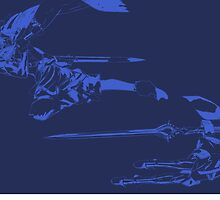 Chrom & Lucina Minimalist Blue by jamden37