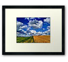 Harvest Time, Northern Ireland Framed Print