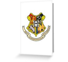 Hogwarts School Of Witchcraft and Wizadry Crest Greeting Card