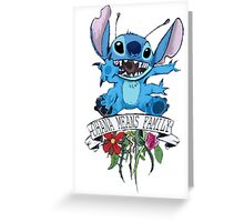 Lilo and Stitch - Ohana Means Family Greeting Card