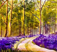 Bluebell Walk by closetpainter