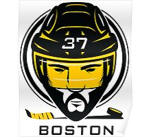 Boston Hockey T-Shirt Poster