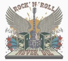 Rock n Roll Will Never Die by retrorebirth