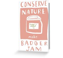 Badger Jam Greeting Card