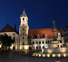 Old Town Hall by Night, Bratislava by shoelock