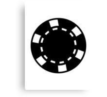 Black poker chips Canvas Print