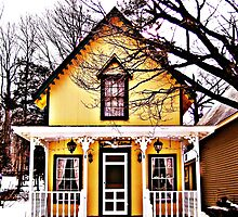 Gingerbread Cottage In Winter by kpbphotography