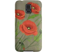 Poppies-3 Samsung Galaxy Case/Skin