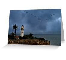 Storm brewing off Point Vicente Greeting Card