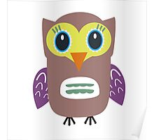 Coloured Owl  Poster
