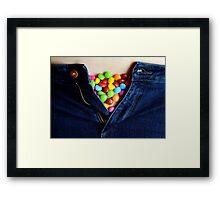 Smartie Pants Framed Print