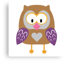 Ugly owl  Canvas Print