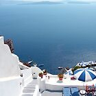Santorini Caldera from Fira II by Tom Gomez