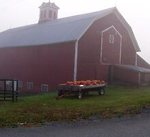 Vermont Foggy Morning Down On The Farm by Gary Benson