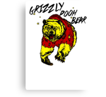 Winnie the Grizzly Pooh Bear Canvas Print