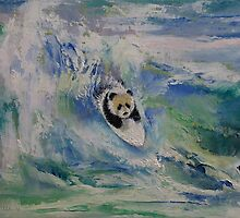 Panda Surfer by Michael Creese