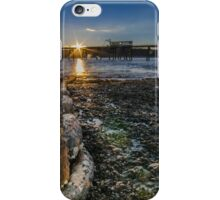 Sunset on old mooring chain iPhone Case/Skin