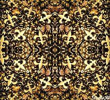 Black and Gold Fleur de Lis Bead Mix 2 by StudioBlack