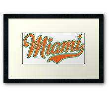 Miami Script Orange Framed Print