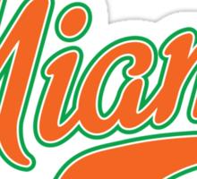 Miami Script Orange Sticker