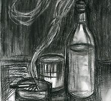 Cigarettes and Alcohol by Roz Abellera Art