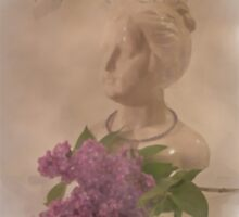 My French Lilac Girl - Digital Watercolor by Sandra Foster