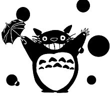 Totoro's Rainy Day (Black) by Sox-in-a-Box